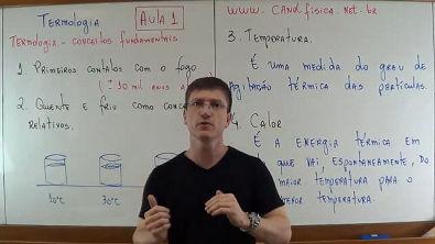 TERMOLOGIA - CONCEITOS FUNDAMENTAIS - Aula 1 - Prof Boaro