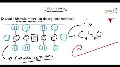 Fórmula Estrutural e fórmula molecular #ExclusivoPD