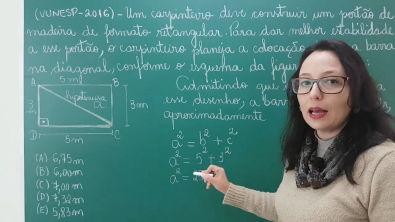 Teorema de Pitágoras - Resolução de Problema - Professora Angela