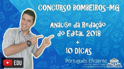 Concurso Bombeiros-MG: Análise da Redação do Edital 2018 + 10 Dicas!