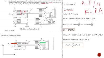 Aula 5- Estática do fluido - Parte 3/3 1 Resolução do Exercício 2 1 , Brunetti