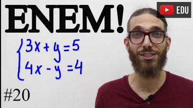 Interpretação e Sistema de Equações do primeiro grau  Matemática ENEM  #20  Professor Rafa Jesus