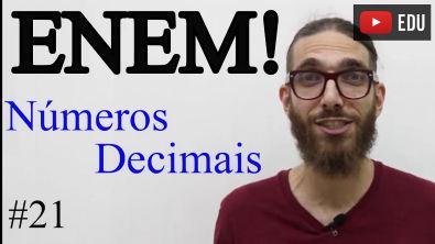 Interpretação: comparação de números decimais   ENEM #21  Professor Rafa Jesus