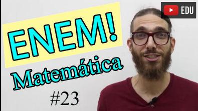 Problema de Matemática - Enem - #23 - Professor Rafa Jesus