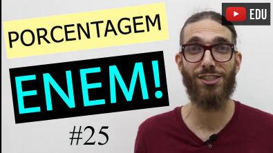 PORCENTAGEM - Matemática do Enem   #25  Professor Rafa Jesus