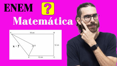 Questão de Geometria Plana - Enem 2019 - Rafa Jesus