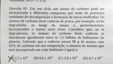 Questão 05 - 2° Exame de Qualificação UERJ 2019 | Marcelão da Química