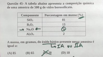 Questão 45 - 2° Exame de Qualificação UERJ 2019 | Marcelão da Química