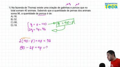 2 Questões de Concursos - Equação do 1° grau - Matemática Básica