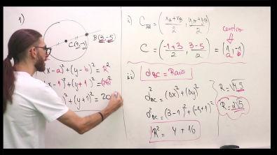 Lista de Circunferências - Resolução do exercício 01