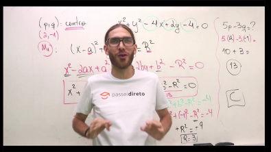 Lista de Circunferência - Resolução do exercício 2 - Modo 1