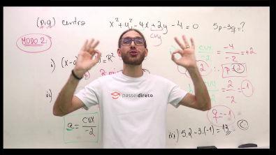 Lista de Circunferência - Resolução do exercício 2 - Modo 2