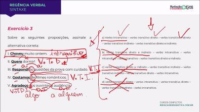 REGÊNCIA VERBAL: RESOLUÇÃO COMENTADA DE EXERCÍCIOS - Profa Pamba