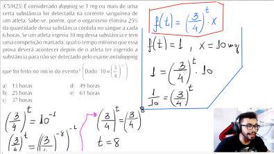 [C5/H23] (Estilo Enem) Função e Equação Exponencial