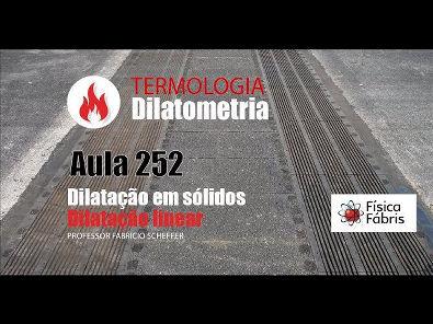 2.4.2 Dilatação térmica linear dos sólidos [FÍSICA FÁBRIS] Aula 252 TERMOLOGIA Dilatometria