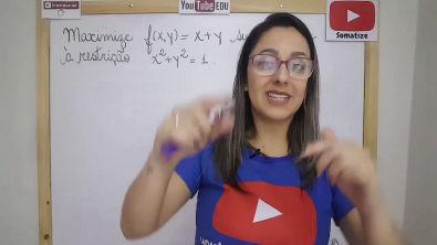 Multiplicadores de Lagrange - Função e restrição - f(x,y) = x+ y - Professora Edna