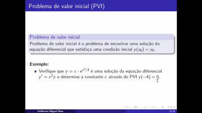 EDO - Aula 1 - Introdução às equações diferenciais