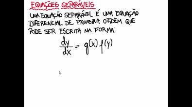 EDO - Aula 2 - Equações separáveis