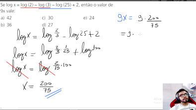Logaritmo - Questão Resolvida (Essencial para praticar)