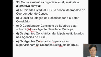 Concurso IBGE - Aula 8 - Conhecimentos Técnicos - Resolução de Questões