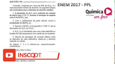 Resolução ENEM PPL 2017 - Prova azul - questão 106