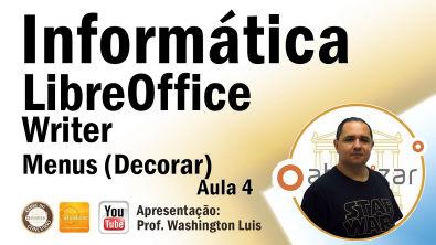 LibreOffice - Writer: Menus - Aula 4