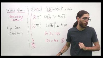 Resolução do exercício 3 da lista de radiciação