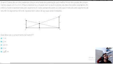 Semelhança de Triângulos (Questão do ENEM resolvida)