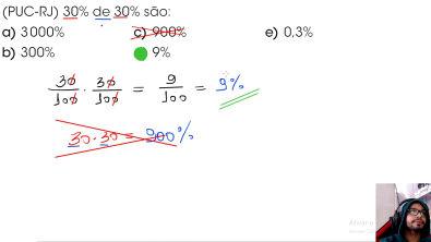 Simulado Porcentagem (Questão 1 [PUC - RJ]) - Resolução