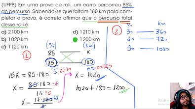 Simulado Porcentagem (Questão 3 [UFPB]) - Resolução