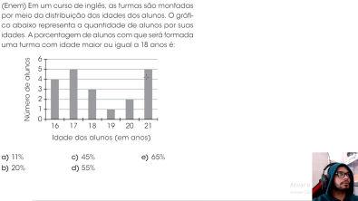 Simulado Porcentagem (Questão 5 [ENEM]) - Resolução