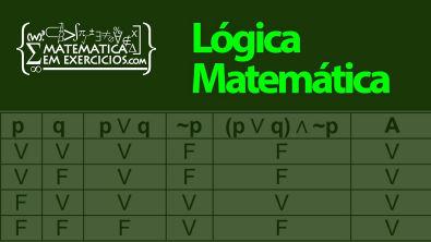 Lógica Matemática - Aula 4 - Álgebra das proposições