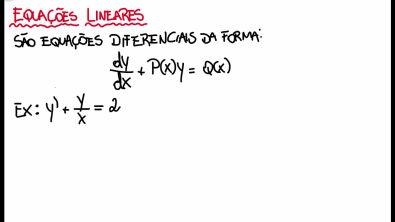 EDO - Aula 3 - Equações lineares