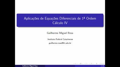 EDO - Aula 4 - Modelagem com equações diferenciais