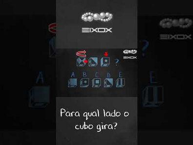 #Shorts eixox | Raciocínio Espacial | Para qual lado o cubo gira? #4