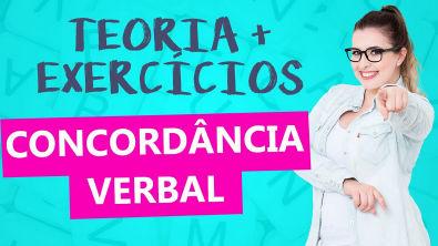 CONCORDÂNCIA VERBAL: RESOLUÇÃO DE EXERCÍCIOS DETALHADA + TEORIA - Profa Pamba