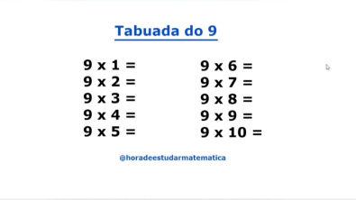 Tabuada do 9 - Aprenda a tabuada do 9 de forma rápida e fácil