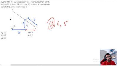 Semelhança de Triângulos (Questão Resolvida) - Excelente questão!