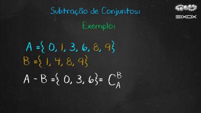 Help eixox | Subtração de Conjuntos | Teoria dos Conjuntos